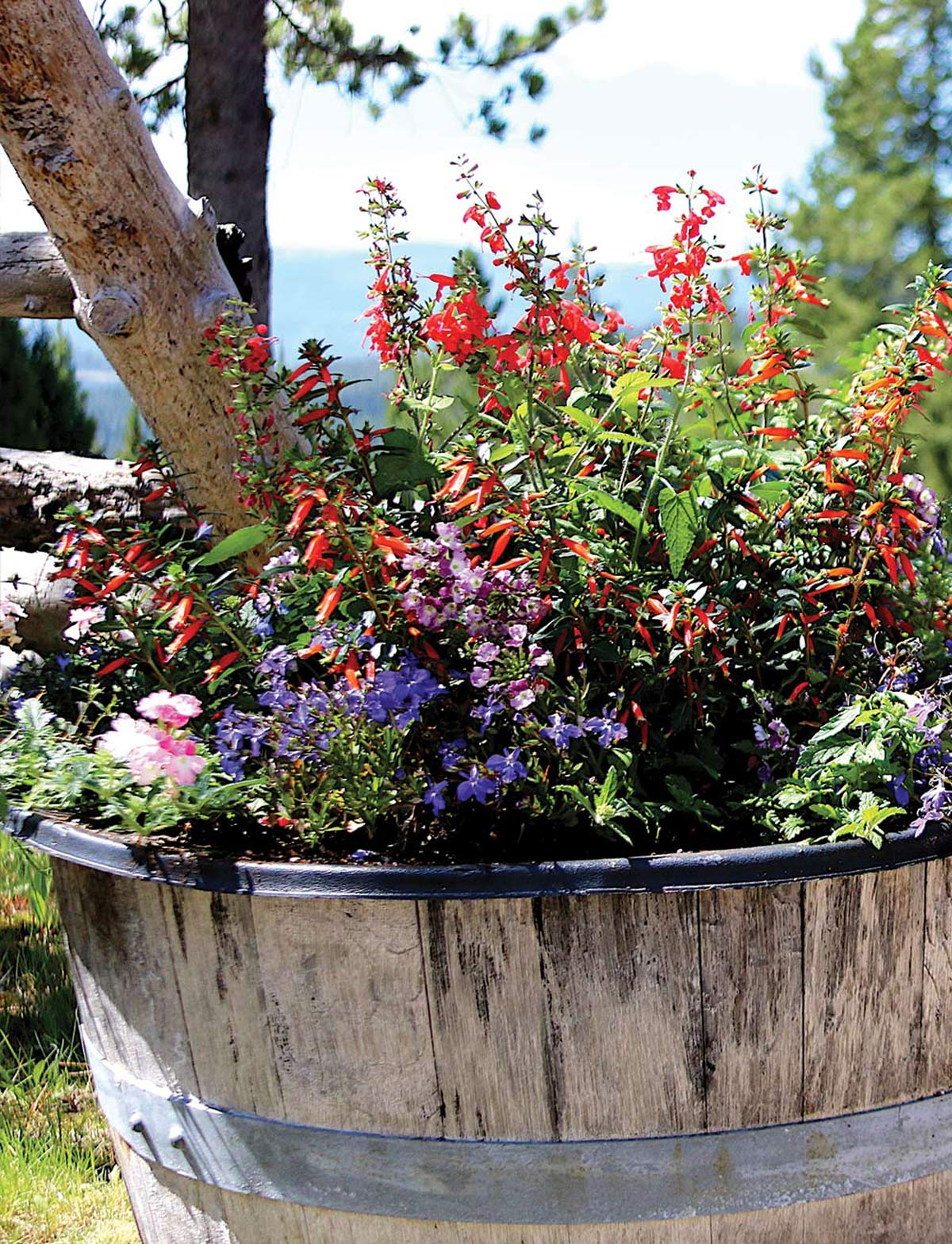 A basket full of wildflowers